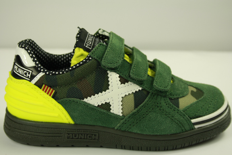 a0111d5c609 De Schoenen van mijn Zus | Munich jongens klittenband schoen groen ...